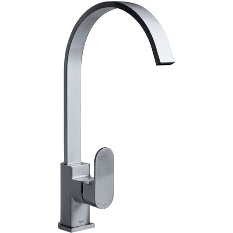 Bristan Cherry Easyfit Kitchen Sink Mixer Tap with Easy Fit Base - Brushed Nickel