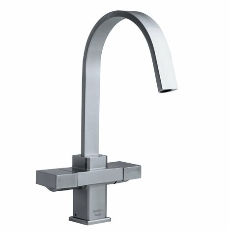 Bristan Chocolate Easyfit Kitchen Sink Mixer Tap with Easy Fit Base - Brushed Nickel