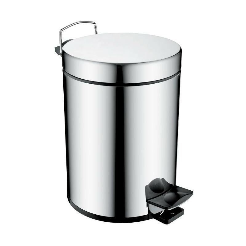 Image of Chrome Pedal Waste Bin - COMP-BIN-C - Bristan