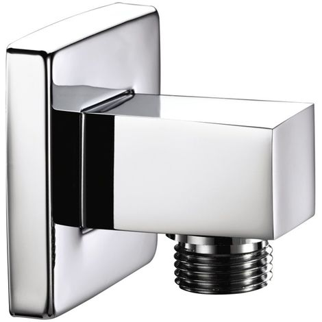 Bristan Chrome Square Shower Wall Outlet - ARM-WOSQ01-C