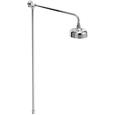 Bristan Chrome Traditional Rigid Riser Shower Kit - TRD-RISE-C