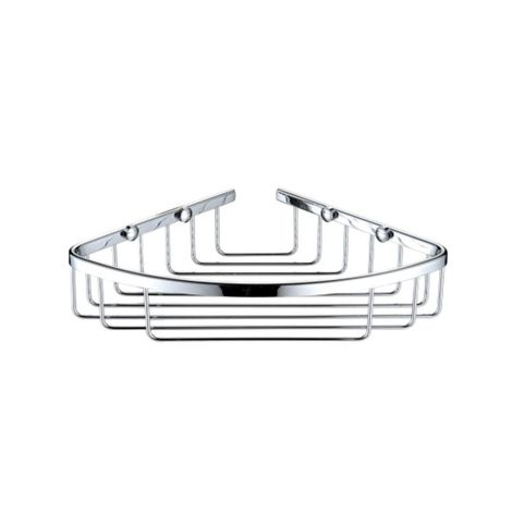 Bristan Chrome Wall Mounted Closed Front Corner Basket - COMP-BASK04-C
