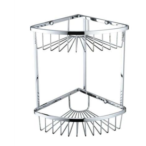 Bristan Chrome Wall Mounted Two Tier Corner Basket - COMP-BASK06-C