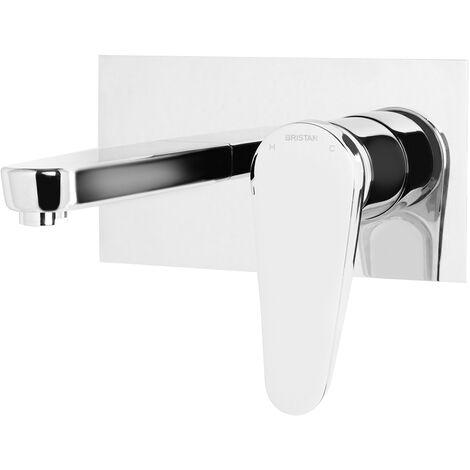 Bristan Claret Wall Mounted Basin Mixer Tap Chrome