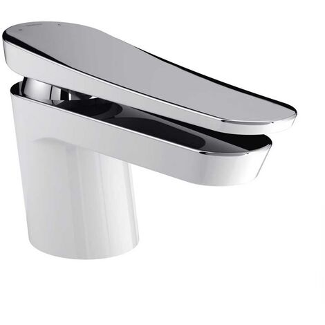 Bristan Claret White and Chrome Mono Basin Mixer Tap - CLR-BASNW-WHT