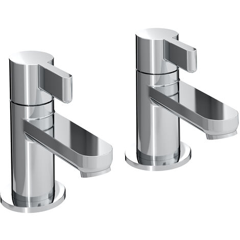Bristan Clio Basin Taps - Pair - Chrome
