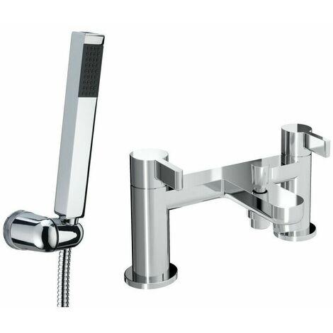 Bristan Clio Bath Shower Mixer Tap Modern Chrome And Wall Mounted Shower Head