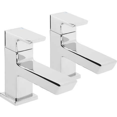 Bristan Cobalt Basin Taps Pair - Chrome