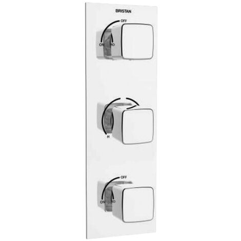 Bristan Cobalt Thermostatic Concealed Shower Valve Triple Handle - Chrome