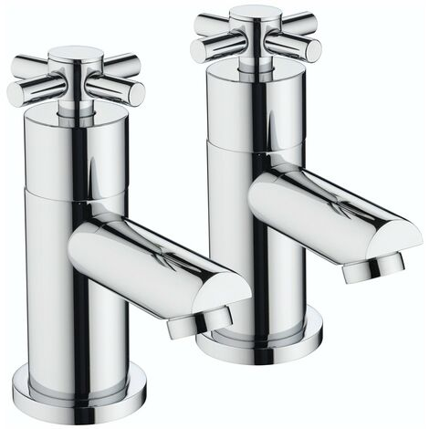 Bristan Decade Basin Taps, Pair, Chrome