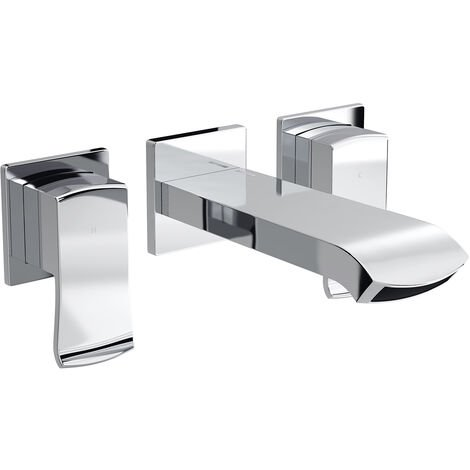 Bristan Descent Basin Mixer Tap, Wall Mounted, Chrome
