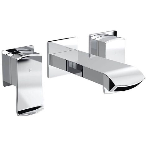 Bristan Descent Bath Filler Tap, Wall Mounted, Chrome