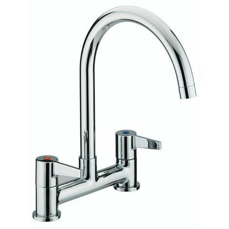 Bristan Design Kitchen Sink Mixer TapUtility Lever Modern Chrome