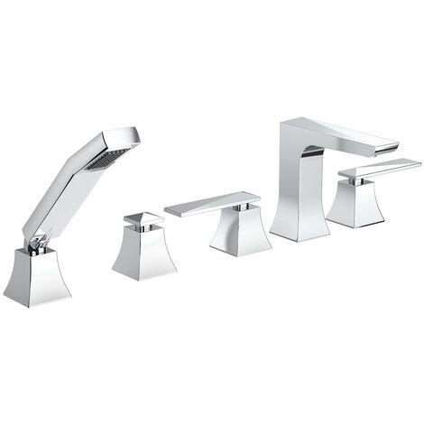 Bristan Ebony 5 Hole Bath Shower Mixer Tap - Chrome