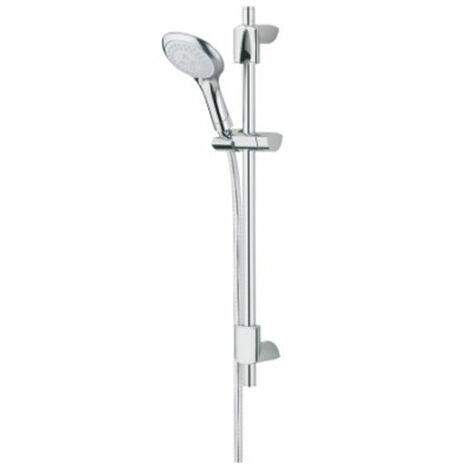 Bristan Evo Adjustable Shower Rail Kit, Multi Function Handset, Chrome