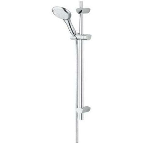 Bristan Evo Adjustable Shower Rail Kit Single Function Handset with 2000mm Hose - Chrome