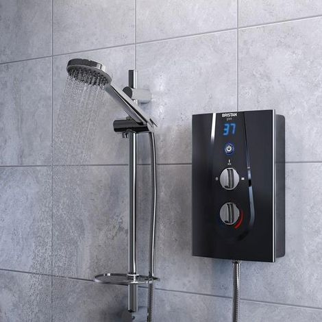 Bristan Glee Electric Shower, Black, 8.5kW