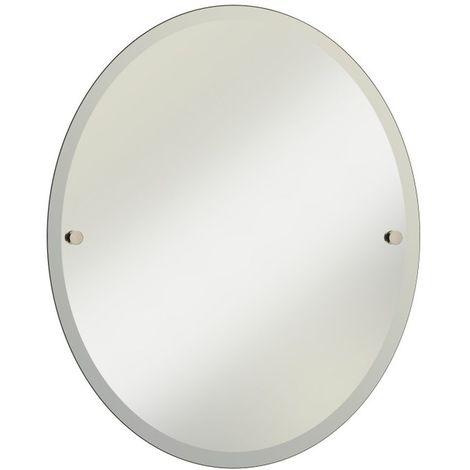 Bristan Gold 610mm x 500mm Oval Bathroom Mirror - COMP-MROV-G