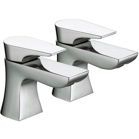 Bristan Hourglass Basin Taps, Pair, Chrome