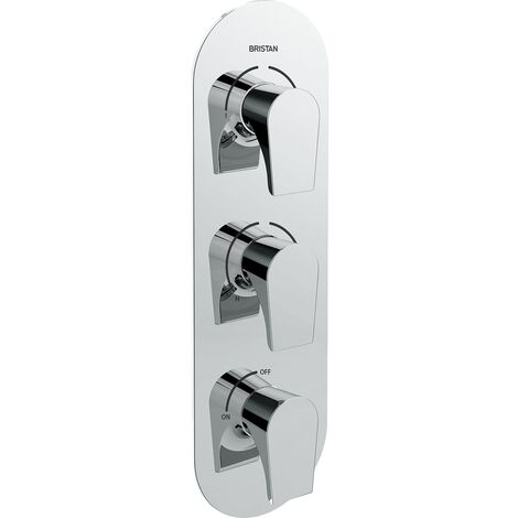 Bristan Hourglass Recessed Dual Control Shower Valve with Two Outlet Diverter and Stopcock - Chrome