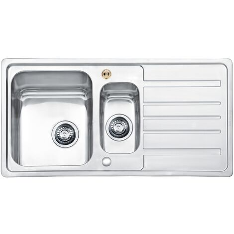 Bristan Index Easyfit 1.5 Bowl Universal Kitchen Sink 970mm L x 500mm W - Stainless Steel