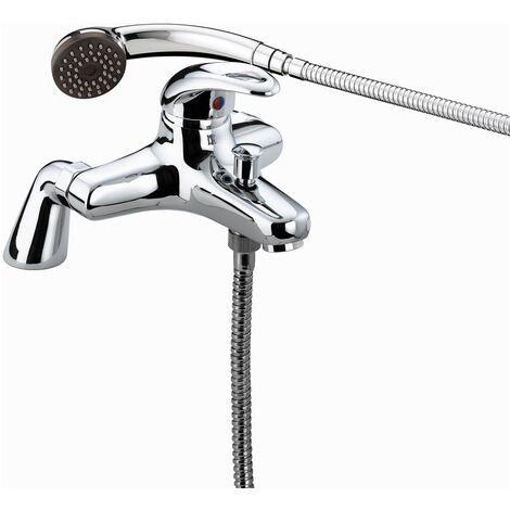 Bristan Java Pillar Bath Shower Mixer Tap - Chrome Plated