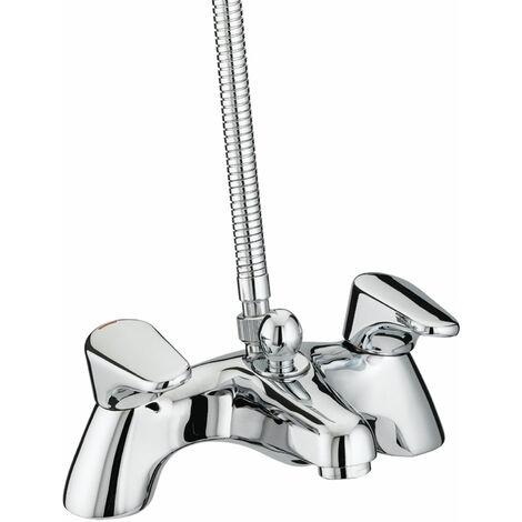 Bristan Jute Pillar Bath Shower Mixer Tap - Chrome Plated