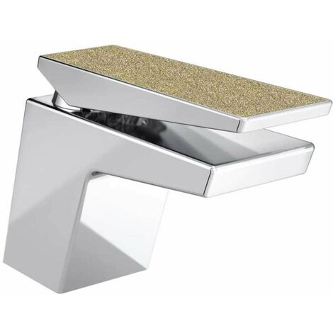 Bristan Metallix Sail Basin Mixer Tap With Clicker Waste - Champagne Shimmer