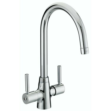 Bristan Monza Kitchen Sink Mixer Tap Double Lever Modern EasyFit Chrome