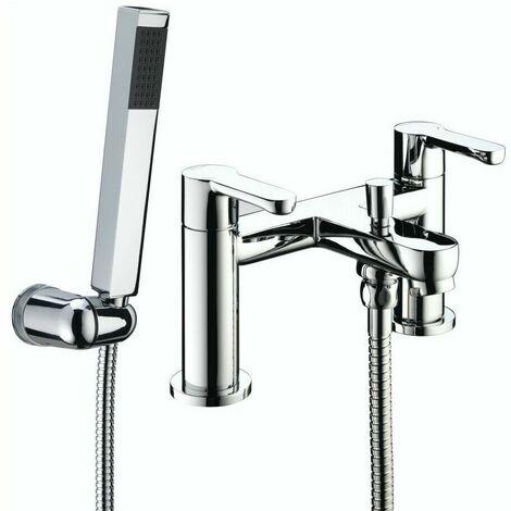 Bristan Nero Bath Shower Mixer Tap Modern Chrome And Wall Mounted Shower Head