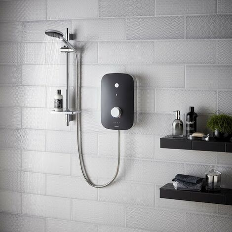 Bristan Noctis 9.5kw Electric Shower - Black and Chrome