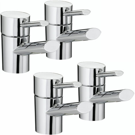 Bristan Oval Basin Taps and Bath Taps, Chrome