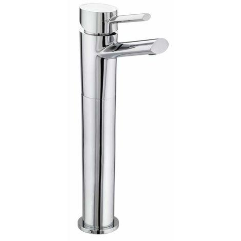 Bristan Oval Chrome Eco Click High Rise Basin Mixer Tap - OL-TBAS-C