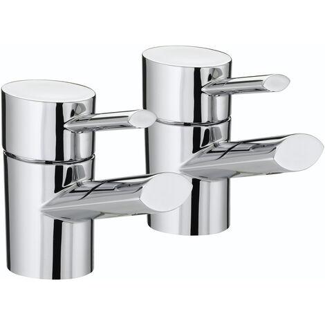 Bristan Oval Modern Basin Taps - Chrome