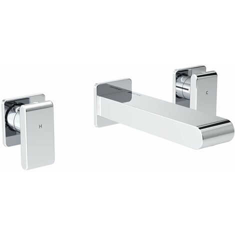Bristan Pivot Basin Mixer Tap, Wall Mounted, Chrome