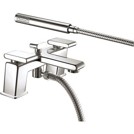 Bristan Pivot Bath Shower Mixer Tap Pillar Mounted - Chrome