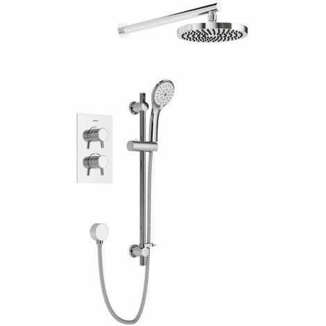 Bristan Prism Thermostatic Mixer Shower Concealed Valve Fixed & Handheld Head