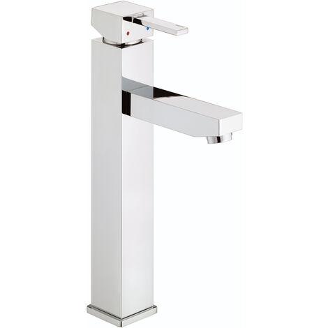 Bristan Quadrato Tall Mono Basin Mixer Tap - Chrome