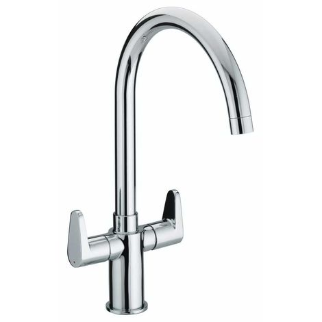Bristan Quest Monobloc Kitchen Sink Mixer Tap Double Lever Modern Easyfit Chrome