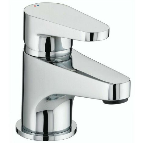 Bristan Quest Stylish Basin Sink Mono Mixer Tap Modern Chrome Round Single Lever