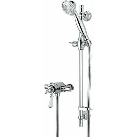Bristan Regency Thermostatic Shower Round Exposed Dual Control Mini Valve & Head