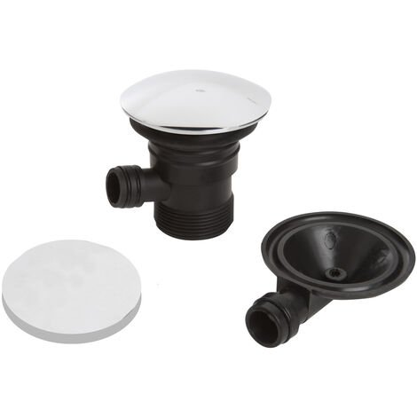 Bristan Round Bath Clicker Waste with Overflow Chrome - Slotted