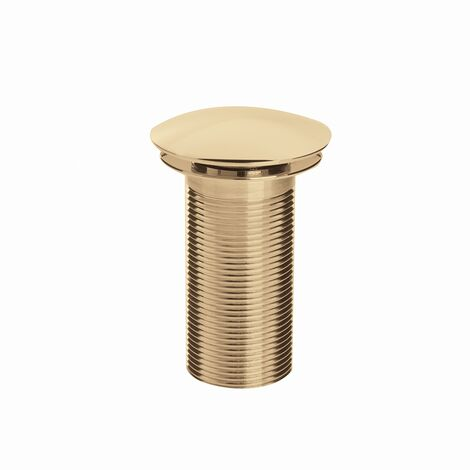 Bristan Round Clicker Basin Waste Gold - Unslotted (For Basins with No Overflow)