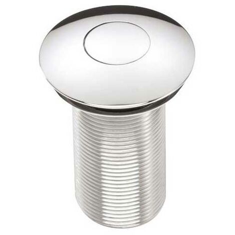 Bristan Round Push Basin Waste Chrome - Unslotted (For Basins with No Overflow)