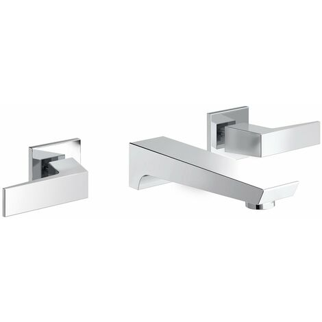 Bristan Sail Basin Mixer Tap, Wall Mounted, Chrome