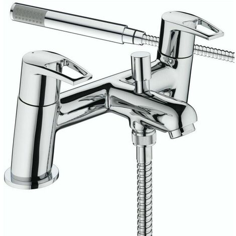 Bristan Smile Bath Shower Double Lever Mixer Tap With Modern Chrome Shower Head