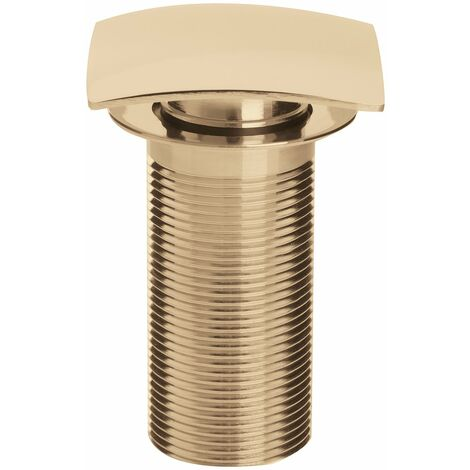 Bristan Square Clicker Basin Waste Gold - Unslotted (For Basins with No Overflow)