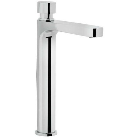Bristan Timed Flow Chrome Soft Touch Flow Regulated Single Tall Body Pillar Basin Tap - Z2-TBV-1/2-C