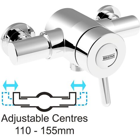 """main image of """"Bristan Traditional Exposed Thermostatic Mixer Lever Shower Valve 110mm 155mm"""""""