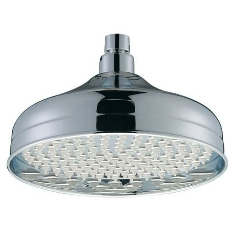 Bristan Traditional Fixed Shower Head, 200mm Diameter, Chrome